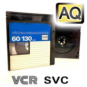 Videokassette VCR/S-VCR in Archiv-Qualität