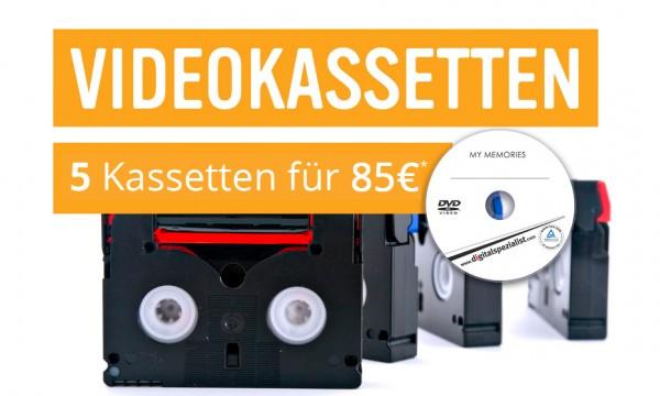 5 Videokassetten auf DVD digitalisieren