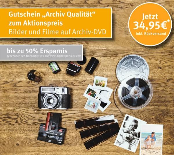 """Gutschein """"Digitalisierung in Archivqualität"""" zum Aktionspreis"""