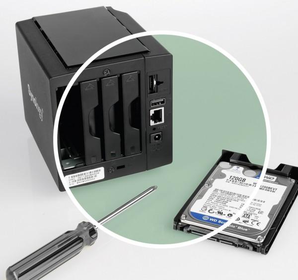 Analyse Festplatte aus einem Speichersystem NAS (network attached storage)