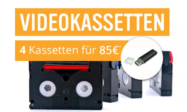 4 Videokassetten als MPEG4 auf USB-Stick