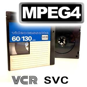 Videokassette VCR/S-VCR im MPEG-Format