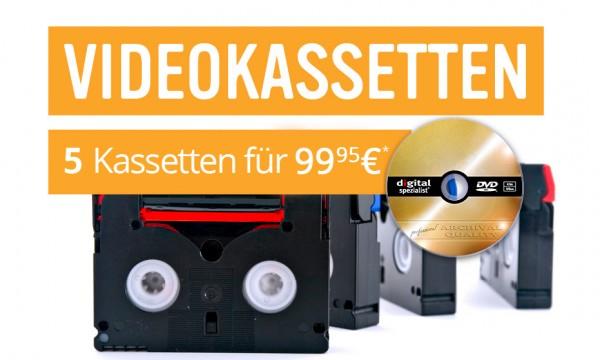 5 Videokassetten auf Archiv-DVD digitalisieren