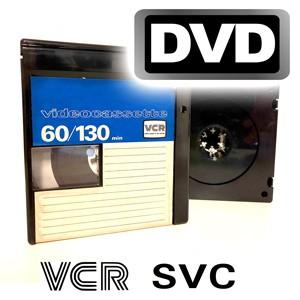 Videokassette VCR/S-VCR auf DVD-Video