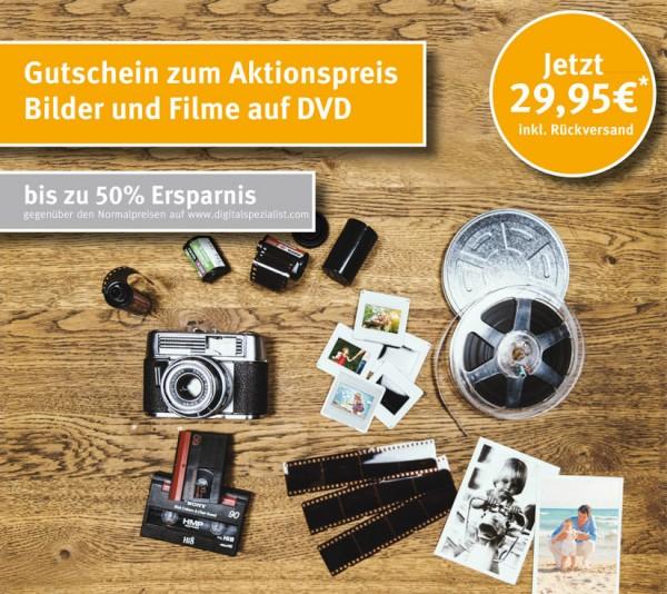 """Gutschein """"Digitalisierung auf DVD"""" zum Aktionspreis"""