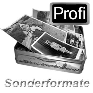 Fotos in Sonderformaten scannen in Profi-Qualität