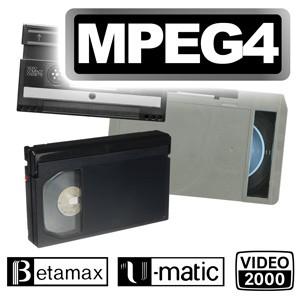 Sonderformate digitalisieren im MPEG4-Format
