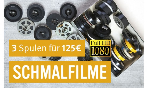 3 Schmalfilme digitalisieren in FULL HD auf USB-Stick